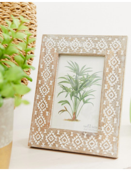 Sass &Amp; Belle Carved Mango Wood Photo Frame by Sass & Belle