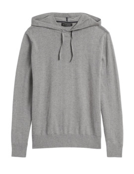 Cotton Cashmere Sweater Hoodie by Banana Repbulic