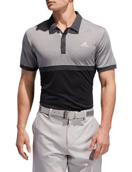 Adidas Men's Drive Heather Colorblock Golf Polo by Adidas