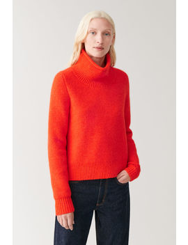 Moss Stitched Alpaca Wool Jumper by Cos