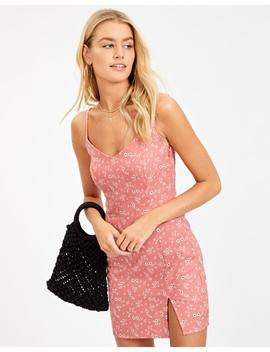 Linen Blend Split Front Dress by Glassons