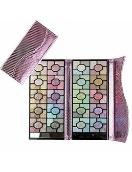 100 Colors Rose Glitter Eyeshadow Palette With Eye Shadow Brushes Make Up Set by Blue K