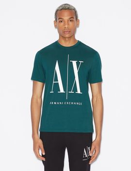 Regular Fit Icon Logo Tee by Armani Exchange