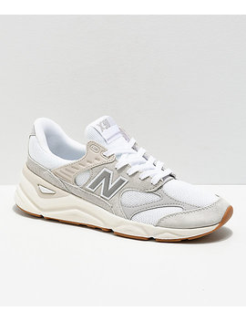 New Balance Lifestyle X90 Reconstructed Nimbus White &Amp; Moon Grey Shoes by New Balance