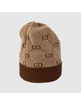 Baby Gg Wool Cotton Hat by Gucci
