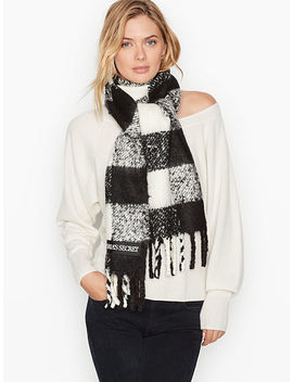 Plush Buffalo Check Scarf by Victoria's Secret