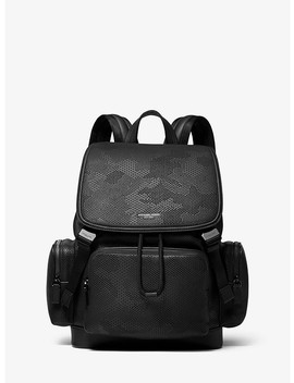 Henry Camo Perforated Leather Backpack by Michael Kors Mens