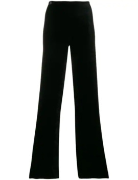 High Waist Flared Trousers by Romeo Gigli Pre Owned