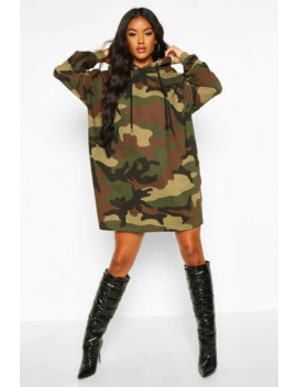 Robe Sweat à Capuche Camouflage by Boohoo