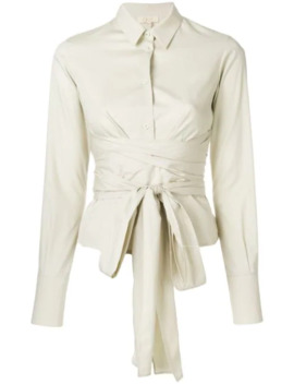 Belted Waist Shirt by Romeo Gigli Pre Owned