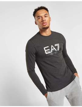 Emporio Armani Ea7 Visibility Logo Long Sleeve T Shirt by Jd Sports