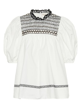 Arden Cotton Poplin Blouse by Ulla Johnson