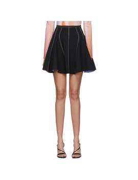 Black Stretch Tailored Skirt by Mugler