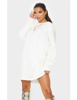 Ecru Oversized Sweater Dress by Prettylittlething