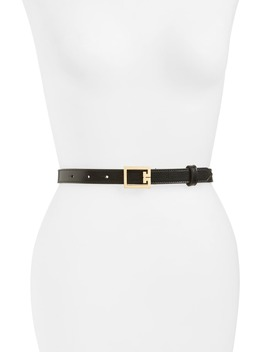 2 G Buckle Leather Belt by Givenchy