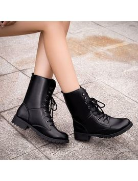 Chinchilla   Couple Matching Lace Up Short Boots by Chinchilla