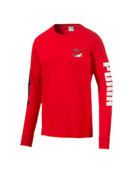 Classics Logo Men's Long Sleeve Tee by Puma