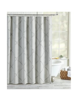 Agustin Lattice Cotton Single Shower Curtain by Joss & Main