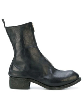Zip Front Ankle Boots by Guidi