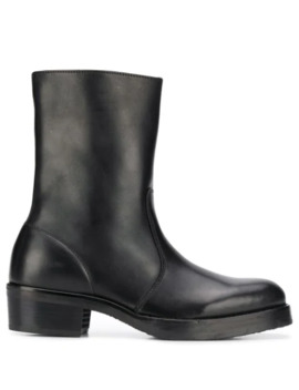 Mid Calf Zip Up Boots by Ymc