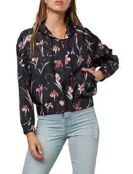 Rainfall Water Resistant Floral Print Rain Jacket by O'neill