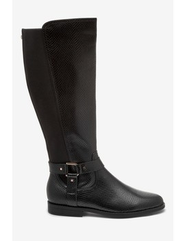 Black Forever Comfort® Knee High Rider Boots by Next