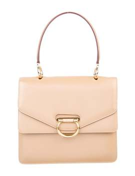 Leather Double Flap Handle Bag by Celine
