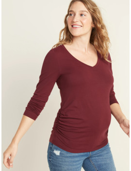 Maternity Fitted V Neck Long Sleeve Tee by Old Navy