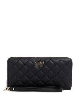 Miriam Quilted Zip Around Wallet by Guess