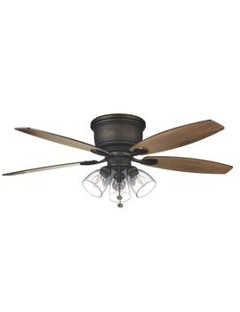 Stoneridge 52 In. Bronze Hugger Led Ceiling Fan With Light Kit by Hampton Bay