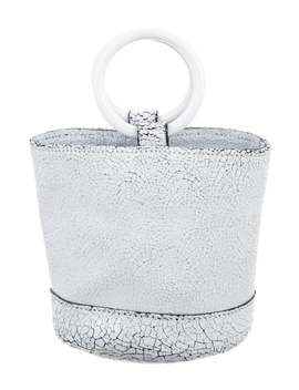 Crackled Leather Mini Bag by Simon Miller