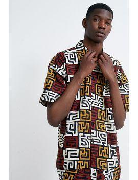 Mojo Kojo Maze Print Button Through Souvenir Shirt by Mojo Kojo