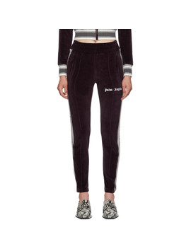 Purple Chenille Slim Track Pants by Palm Angels