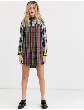 Fred Perry Mixed Plaid Dress by Fred Perry's