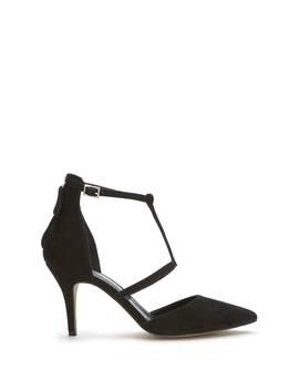 Black Nicole Suede Cage Heel by Mint Velvet