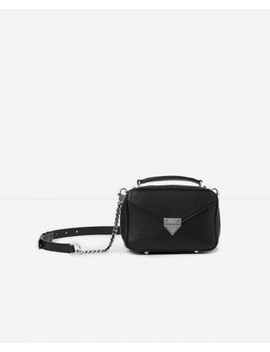 Mini Black Barbara Bag In Smooth Leather by The Kooples