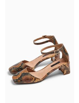 Jay Square Toe Block Shoes by Topshop