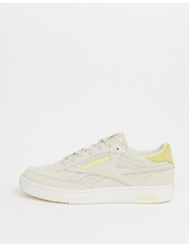 Reebok Club C Trainers In Premium Suede With Transluscent Sole Exclusive To Asos by Reebok's