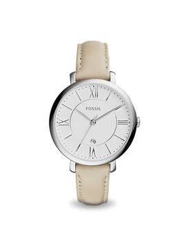Fossil Womens Jacqueline White Leather Watch by Things Remembered