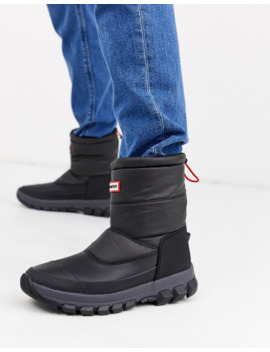 Hunter Original Padded Snow Boots In Black by Hunter's
