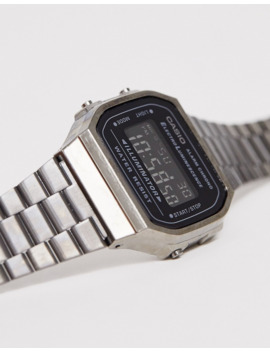 Casio Gunmetal Vintage Inspired Digital Watch by Casio's