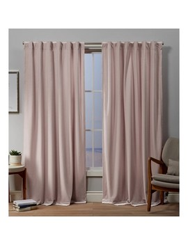 Velvet Back Tab Light Filtering Window Curtain Panels   Exclusive Home by Exclusive Home