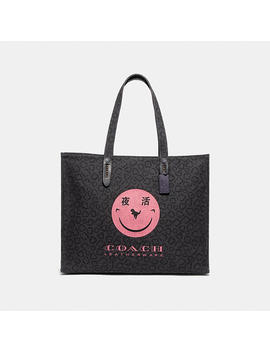 Tote 42 With Rexy By Yeti Out by Coach