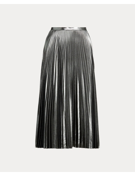 Pleated Metallic Skirt by Ralph Lauren