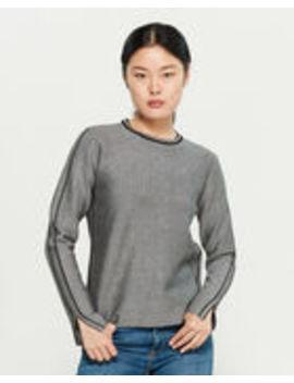 Grey & Black Long Sleeve Sweater by Yal New York