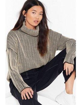 Inverted Stripe Knit Jumper by Nasty Gal