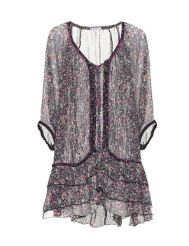 Bety Floral Silk Poncho Minidress by Poupette St Barth