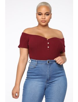 Living After Midnight Top   Burgundy by Fashion Nova