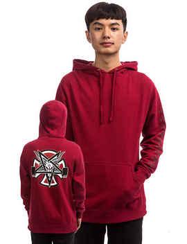 Independent X Thrasher Pentagram Cross Hoodie (Garnet) by Independent