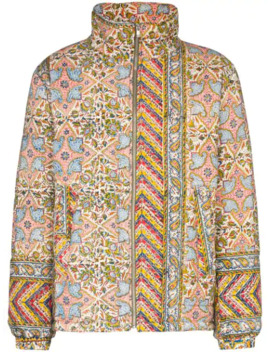 Iranian Print Quilted Jacket by Paria Farzaneh